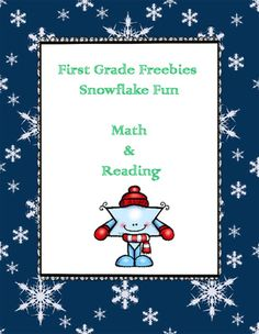 Free download that includes snowflake themed phonics and math activities.These activities will engage learners! Download and enjoy!