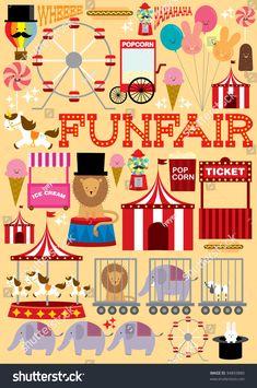 stock-vector-fun-fair-illustration-vector-94893880.jpg (1061×1600)