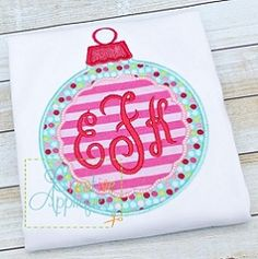 Ornament Monogram Scallop Applique - 4 Sizes! | What's New | Machine Embroidery Designs | SWAKembroidery.com Creative Appliques