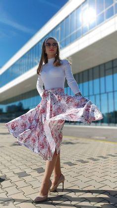 Kruhová sukňa Michelle s vreckami / ajkadizajn - SAShE.sk