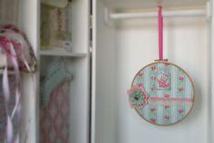 Little princess hoop art  girl's room wall decor  by Renouitas
