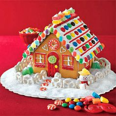 CarolinaPeds Minute: If you're thinking of building a gingerbread house from a kit, think about buying one that makes several small houses rather than one large one. The smaller pieces are easier to manage, meaning less frustration for your child.
