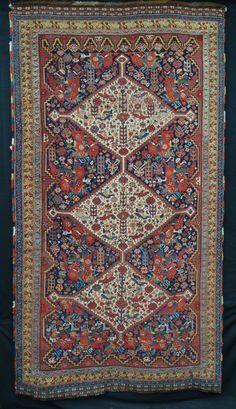 Antique Baharlu Tribal Rug of the Khamseh Confederacy, South-West Persia. Size: 2.75m x 1.50m (9' x 5')