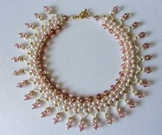 Free pattern for beaded necklace Caramella   Beads Magic