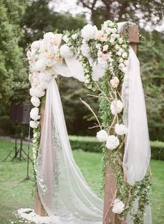 Stunning floral wedding ceremony arbor | Deer Pearl Flowers