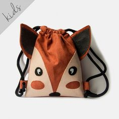 Mini plecaczek dziecięcy lisek Bucket Bag, Bags, Fashion, Handbags, Moda, Fashion Styles, Fashion Illustrations, Bag, Totes