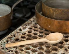 Spoon hand carved by William Allen with wind fallen wood gathered from London parks