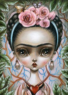 5 x 7 Fine Art Print-Frida hart