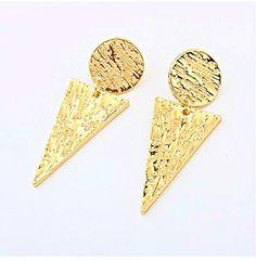 European And American Fashion Original Inverted Triangle Earrings Punk Earrings, Fashion Earrings, Fashion Jewelry, Drop Earrings, Inverted Triangle, Triangle Shape, Wholesale Bags, Triangle Earrings, Cheap Jewelry