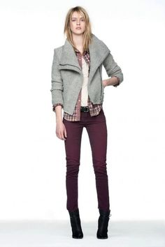 Perfect casual winter outfit!  -  I would Love to have this coat it's Gorgeous! ^*