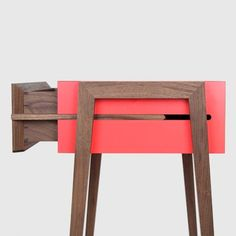 A way to avoid buying drawer slides: FLODEAU.COM : Animate Bedside Table by Young and Norgate 04