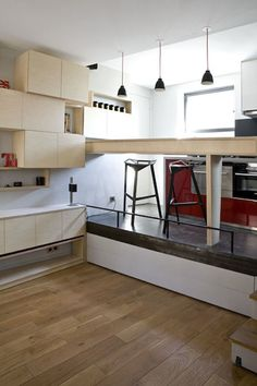 Pretty and efficient – studio apartment solutions  #furniture #home #studio apartment #studio apartment solutions