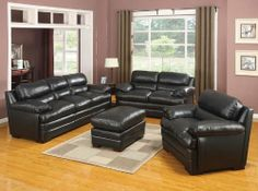 """New 3Pc CONTEMPORARY MODERN LEATHER SOFA SET #AC-TAYLOR by UTM. $2899.00. * All corners are """" blocked"""", nailed and glued for strength and durability. * All of the seats and backs are high density (1.9) foam to give comfort and support. * Itis made of selected top grain leather where you body touch and matching leatherette on the side. * Solid wood frame use in the sofa construction. UTM 3 pcs contemporary modern leather sofa set include 1 sofa + 1 love + chair. Available Co..."""