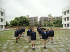 students ready to salute the National Flag