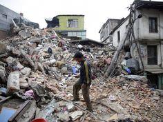 alles is kapot door de aardbeving