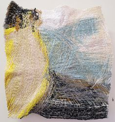 6. Dionne Swift,  Found Stitches 4 , free machine embroidery of cotton, silk and viscose thread, $320  Mundaring Arts Centre