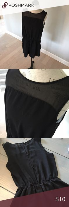 Black Sheer Back Romper Black romper with a sheer button up back and top. Worn once. Perfect condition, like new. Non smoking home. Purchased at TJ Maxx. one clothing Other