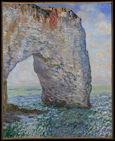 """""""The Manneporte near Étretat"""" by by Claude Monet. 1886, oil on canvas. In the collection of The Metropolitan Museum of Art, NYC. Bequest of Lillie P. Bliss."""