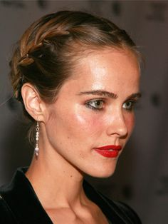 Look we love: Isabel Lucas's lovely double French braid