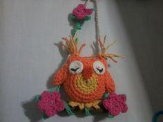 Souvenirs 15 Años Buhos A Crochet Para Colgar -