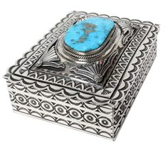The late Navajo silversmith Gary Reeves made lots of silver boxes, canteens and seed pots. However, he started to make less and less of these unique pieces of handmade art. We were lucky to get this great piece through a trade. | eBay!