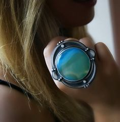 Jewelry   Jewellery   ジュエリー   Bijoux   Gioielli   Joyas   Art   Arte   Création Artistique   Artisan   Precious Metals   Jewels   Settings   Textures   Agate Sterling Silver Ring