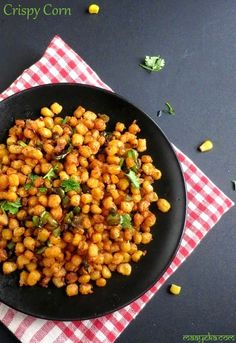 How to make Crispy Corn Kernels, Crispy Corn Kernels Recipe Sweet Corn Recipes, Veg Recipes, Indian Food Recipes, Vegetarian Recipes, Cooking Recipes, Ethnic Recipes, Cooking Stuff, Simply Recipes, Easy Recipes