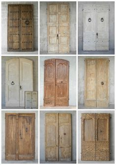 We love our current collection of antique entrance doors and gates! See more at chateaudomingue.com