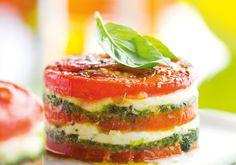 Tomaten-Mozzarella-Türmchen