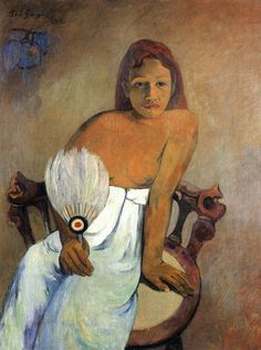 arinewman7:  Girl with a Fanby Paul Gauguin