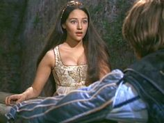 """1968 Juliet: """"O, swear not by the moon, th' inconstant moon, That monthly changes in her circle orb, Lest that thy love prove likewise variable"""" Romeo And Juliet Costumes, Film Romeo And Juliet, Juliet Movie, Gilmore Girls, William Shakespeare, Zeffirelli Romeo And Juliet, Juliet Capulet, Leonard Whiting, Face Age"""