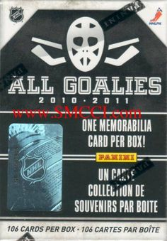 """2010 / 2011 Panini Hockey ALL Goalies Series Factory Sealed Set. Each Box Contains 106 Cards, the 100 Card All Goalies Base Set, 5 """"Up Close"""" Parallels and 1 """"Stopper Sweaters"""" Memorabilia Card. Loaded with Stars Including Tim Thomas, Carey Price, Roberto Luongo, Patrick Roy, Felix Potvin, Curtis Joseph and More! by Panini. $16.84. This is the 2010 / 2011 Panini Hockey ALL GOALIES series factory sealed set. Each box contains 106 cards, the 100 card all goalies..."""