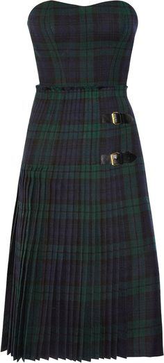 McQ Alexander McQueen tartan bustier dress Reminds me of my Catholic school days... OMG #SAINTCECILIA #BROOKLYN #GREENPOINT