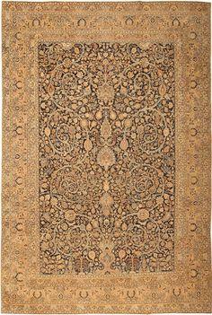 Antique All-Over Design Khorassan Persian Carpet Rug : Lot 173