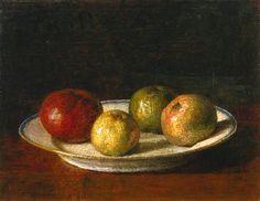 Henri Fantin-Latour, A Plate of Apples, 1861
