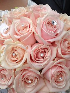 My wedding bouquet of sweet avalanche roses. Blush Pink Wedding Flowers, Blush Pink Weddings, Pink Roses, Pink Flowers, Wedding Bouquets, Sleeping Beauty Wedding, Pink Flower Arrangements, Coming Up Roses, Our Wedding