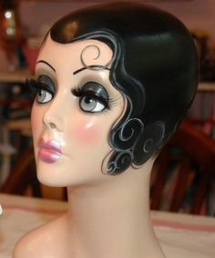 Art Deco Flapper Mannequin Head - Ready to Ship. $349.99, via Etsy.