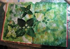 Mixed Media Painting - Mixed Media Art  background using Gesso resistance technique