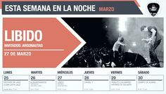 SEMANA DEL LUNES 25 AL SÁBADO 30 DE MARZO DE 2013 // Para reservas escribir a reservas@lanoche.com.pe. // http://www.lanoche.com.pe //  http://www.facebook.com/lanoche //  http://www.twitter.com/lanoche