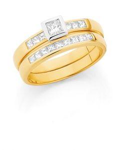 Beautiful Engagement & Wedding Ring Set.   (Loloma Showcase Jewellers - www.loloma.com.au)