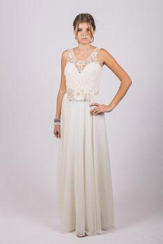 Custom Make Wedding Dress  Open Back Lace Wedding by FoldedRoses, $350.00