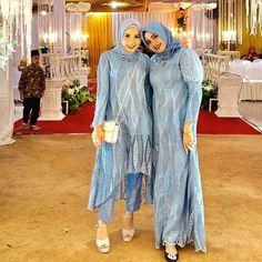 Model Baju Hijab, Kebaya Hijab, Kebaya Dress, Model Kebaya, Dress Brokat Muslim, Dress Brokat Modern, Kebaya Modern Dress, Hijab Evening Dress, Hijab Dress Party
