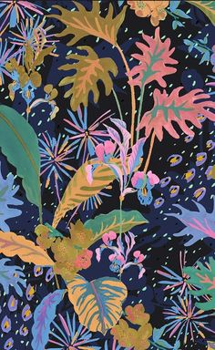 irina muñoz clares p Motifs Textiles, Textile Patterns, Print Patterns, Motif Floral, Floral Prints, Art Prints, Design Visual, Illustration Arte, Jungle Pattern