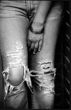 Old ripped jeans