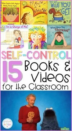 Teachers can use these 15 self-regulation and self-control books and videos for the classroom to teach kids to calm down, self-regulate, and manage their behavior during social-emotional learning lessons and activities with kids along with yoga, breathing Social Emotional Activities, Social Emotional Development, Teaching Social Skills, Teaching Kids, Emotions Activities, Social Skills Lessons, Life Skills, Character Education Lessons, Teaching Emotions