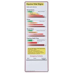 Equine Respiration rate chart