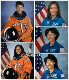 African American Women Astronauts: Mae Jemison (First African American Woman in Space), Stephanie Wilson, Joan Higginbotham, Yvonne Cagle and Jeanette Epps. #blackhistorymonth #knowyourhistory NASA - National Aeronautics and Space Administration