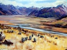 Another Aston Greathead  Originals painted New  Zealand high country