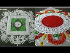 Diwali Special Sanskar Bharti Rangoli Design 2020 | Diwali Easy Rangoli Design With Colours | Kolam - YouTube Rangoli Colours, Colorful Rangoli Designs, Corner Rangoli, Sanskar Bharti Rangoli Designs, Diwali Special Rangoli Design, Rangoli Designs For Competition, New Year Special, Simple Rangoli, Future