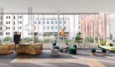 Hammarbysjöstad, Office Entrance, Stockholm Interior design, Scandinavian design, 3D visualisation, render, archviz, 3Ds Max, modern design, styling